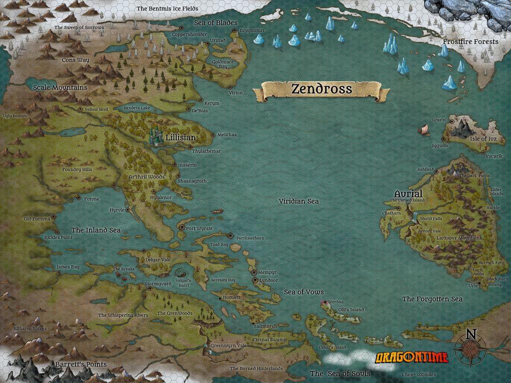 Zendross - homebrew world of D&D